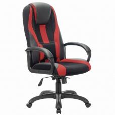 Кресло компьютерное BRABIX PREMIUM Rapid GM-102, НАГРУЗКА 180 кг, экокожа/ткань, черное/красное, 532107