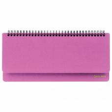 Планинг недатированный (305x140 мм) BRAUBERG Select, балакрон, розовый, 111697