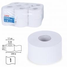 Бумага туалетная 200 м, LAIMA Т2, UNIVERSAL WHITE, 1-слойная, цвет белый, КОМПЛЕКТ 12 рулонов, 111335
