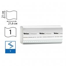 Полотенца бумажные 250 шт., VEIRO Professional Система H3, комплект 20 шт., Basic, белые, 21х21,6, V, KV104