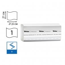 Полотенца бумажные 250 шт., VEIRO Professional Система H3, комплект 20 шт., Comfort, белые, 21х21,6, V, KV210