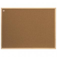 Доска пробковая для объявлений 80x60 см, ECO, деревянная рамка, 2х3 Польша, TC86/C