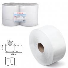 Бумага туалетная в БОЛЬШИХ рулонах ЛАЙМА УНИВЕРСАЛ Система T1 1-слойная 6 рулонов по 480 метров, цвет натуральный, 126091
