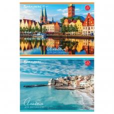 Альбом для рисования, А4, 32 л., обложка картон, BRAUBERG Города мира, 103684