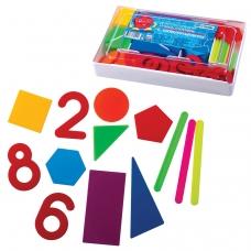 Касса цифр и счетных материалов СТАММ Учись считать, 142 элемента, пенал, КС01