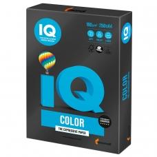 Бумага IQ color, А4, 160 г/м2, 250 л., интенсив, черная, В100, B100
