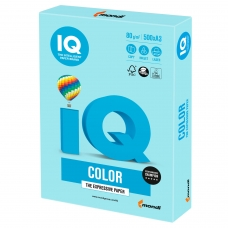 Бумага IQ color, А3, 80 г/м2, 500 л., пастель, голубая, MB30