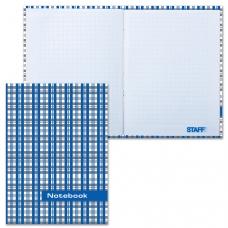 Блокнот 7БЦ, А6, 80 л., обложка ламинированная, клетка, STAFF, Шотландка, 110х147 мм, 120953
