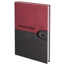 Ежедневник датированный на 4 года, BRAUBERG Кожа бордо, А5, 133х205 мм, 192 листа, 121592