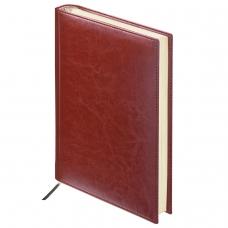 Ежедневник BRAUBERG недатированный, А6, 100х150 мм, Imperial, под гладкую кожу, 160 л., коричневый, кремовый блок, 123465