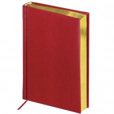 Ежедневник BRAUBERG недатированный, А5, 138х213 мм, Iguana, под змеиную кожу, 160 л., бордовый, кремовый блок, золотой срез, 125092