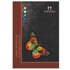 Папка для пастели/планшет, А4, 210х297 мм, 20 л. тонированная бумага 200 г/м2, склейка, 4 цв., твердая подложка, Бабочка, ПБ/А4