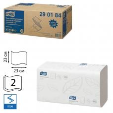 Полотенца бумажные, 200 шт., TORK Система H3 Advanced, комплект 20 шт., 2-слойные, белые, 23х23, ZZV, 290184