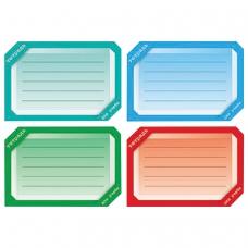 Наклейка для тетрадей, HATBER, европодвес, комплект 16 шт., Цветная, 165х200 мм, Накл 14729, O181843