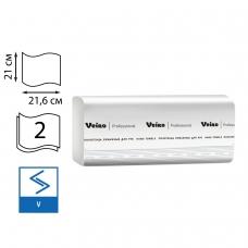 Полотенца бумажные 200 шт., VEIRO Система H3, комплект 20 шт., Comfort, 2-слойные, белые, 21х21,6, V, KV205