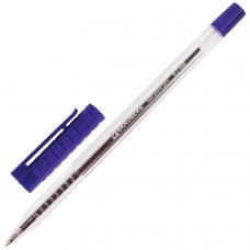 Ручка шариковая BRAUBERG Flash, СИНЯЯ, корпус прозрачный, узел 0,7 мм, линия письма 0,35 мм, BP183