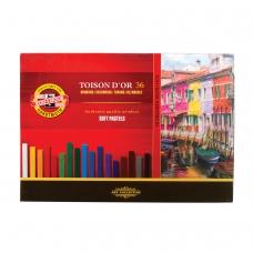 Пастель мягкая художественная KOH-I-NOOR Toison Dor, 36 цвета, квадратное сечение, 8585036001KS
