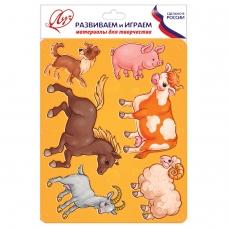 Трафарет-раскраска ЛУЧ Домашние животные, 9C 447-08