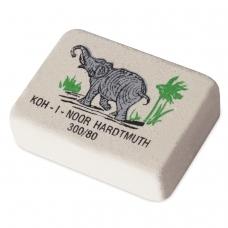 Резинка стирательная KOH-I-NOOR Слон, прямоугольная, 26х18,5х8 мм, цветная, картонный дисплей, 0300080018KDRU
