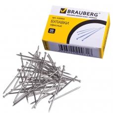 Булавки офисные BRAUBERG, 24 мм, 500 шт., в картонной коробке, 220562