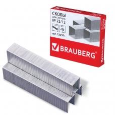 Скобы для степлера BRAUBERG № 23/13, 1000 штук, в картонной коробке, до 80 листов, 220951
