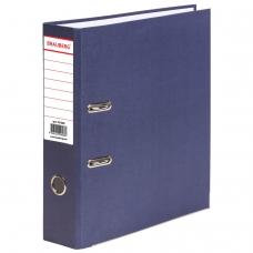 Папка-регистратор BRAUBERG ECO, 80 мм, синяя, 221396