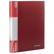 Папка на 2 кольцах BRAUBERG Стандарт, 25 мм, красная, до 170 листов, 0,8 мм, 221614