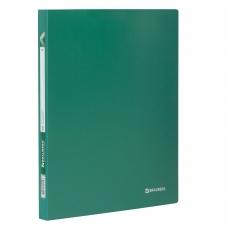 Папка 40 вкладышей BRAUBERG Office, зеленая, 0,6 мм, 222633