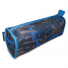 Пенал-косметичка BRAUBERG полиэстер, сер/голубой, Элемент, 21х6х8 см, 223905