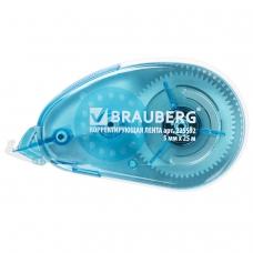 Корректирующая лента BRAUBERG Maxi, увеличенная длина 5 мм х 25 м, белый/синий корпус, блистер, 225592