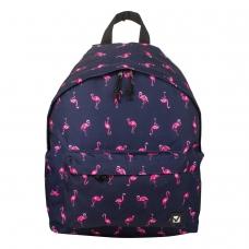 Рюкзак BRAUBERG универсальный, сити-формат, синий, Фламинго, 20 литров, 41х32х14 см, 226404