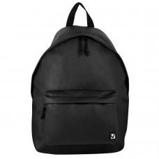 Рюкзак BRAUBERG универсальный, сити-формат, черный, кожзам, Селебрити, 20 литров, 41х32х14 см, 226423