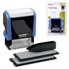Штамп самонаборный 5-строчный, оттиск 58х22 мм, синий, без рамки, TRODAT 4913P4/DB , корпус синий, кассы в комплекте, 4913/DB