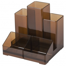 Подставка-органайзер BRAUBERG-CONTRACT, 109х95х101,5 мм, 5 отделений, тонированная, 230994