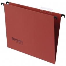 Подвесные папки картонные BRAUBERG, комплект 10 шт., 315х245 мм, до 80 л., А4, красные, 230 г/м2, табуляторы, 231792