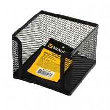 Подставка для бумажного блока BRAUBERG Germanium, металлическая, 78*105*105 мм, черная, 231944