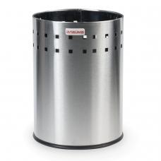 Корзина металлическая для мусора ЛАЙМА Bionic, 7 л, матовая, перфорированная, несгораемая, 232267