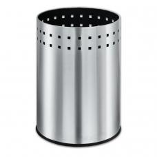 Корзина металлическая для мусора ЛАЙМА Bionic, 12 л, матовая, перфорированная, несгораемая, 232268