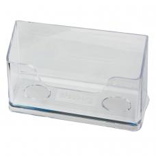 Подставка для визиток настольная BRAUBERG CONTRACT, на 50 визиток, 100х40х65 мм, прозрачная, 232287
