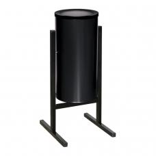 Урна металлическая уличная, 720х330х405 мм, 25 л, цвет черный, СЛ2-250