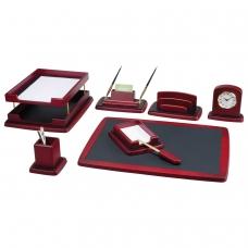 Набор настольный BESTAR Atropos из дерева, 8 предметов, двойной лоток, красное дерево, 236390