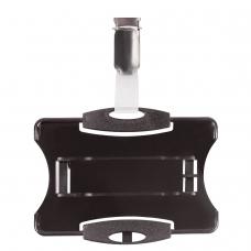 Держатель для пропусков DURABLE , комплект 25 шт., жесткий пластик, металлический поворотный клип, черный, 8118-01