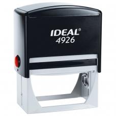 Оснастка для штампа, оттиск 75х38 мм, синий, TRODAT IDEAL 4926 P2, подушка, корпус черный, 125432