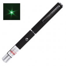 Указка лазерная, радиус 1000 м, зеленый луч, черный корпус, клип, футляр, TP-GP-17