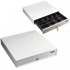 Ящик денежный для кассира Меркурий 100, большой, 432х428х88 мм, отделений для монет - 8, для купюр - 5