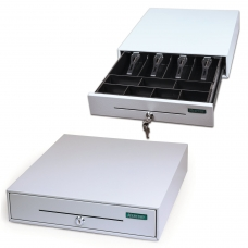 Ящик денежный для кассира Меркурий 100.1, МАЛЫЙ, 384х358х88 мм, отделений для монет - 7, для купюр - 4