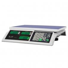 Весы торговые MERCURY M-ER 326AC-32.5 LCD 0,1-32 кг, дискретность 10 г, платформа 325x230 мм, без стойки