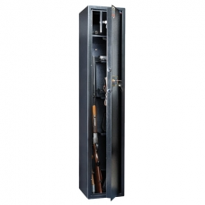 Сейф оружейный VALBERG Арсенал 148Т, 1480х300х300 мм, 65 кг, на 4 ствола, 1 ключ, 4 полки, трейзер