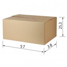 Гофроящик, длина 570 х ширина 380 х высота 253 мм, марка Т22, профиль С, FEFCO 0201 / ГОСТ, исполнение А, 440054