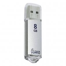 Флэш-диск 8 GB, SMARTBUY V-Cut, USB 2.0, металлический корпус, серебристый, SB8GBVC-S